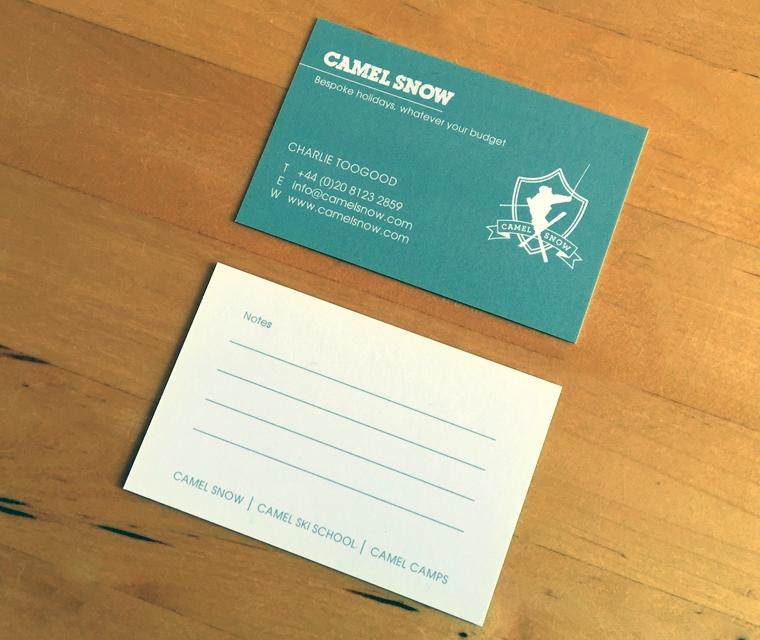 Camel Snow Business Card