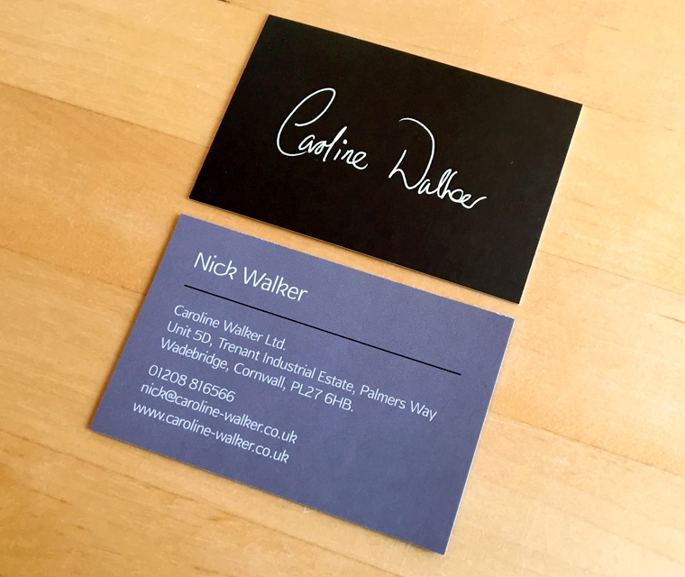 Caroline Walker business card