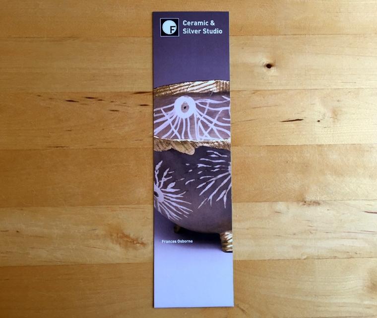Fraddon Pottery bookmark