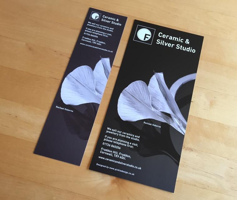 Fraddon Pottery Bookmark and Leaflet