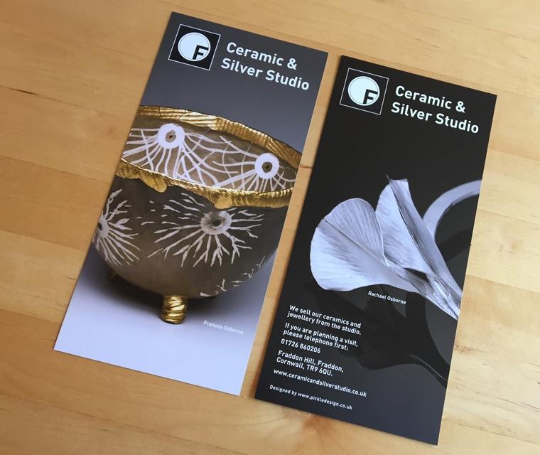 Fraddon Pottery DL flyers