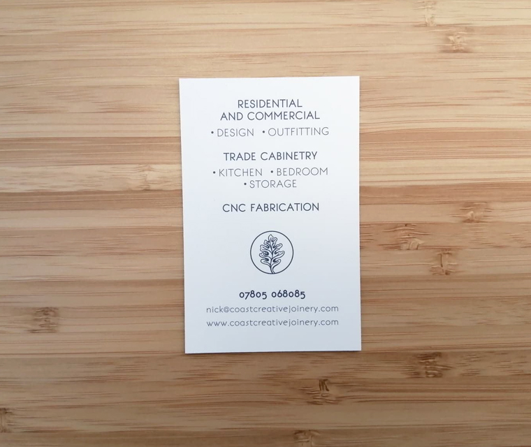 Coast Creative Joinery business cards