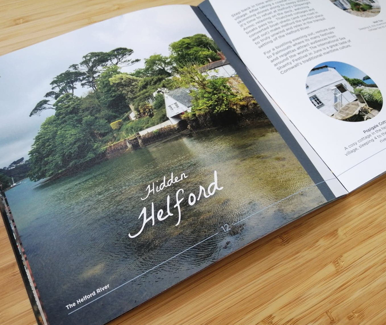 Design and print management for the Cornish Horizons lifestyle brochure