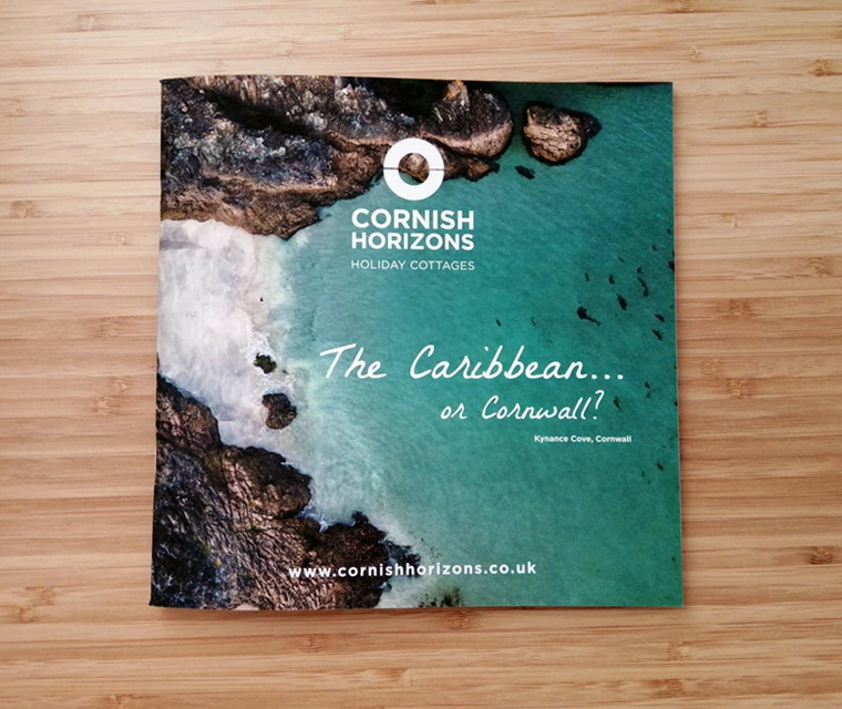 Front cover to the new Cornish Horizons brochure