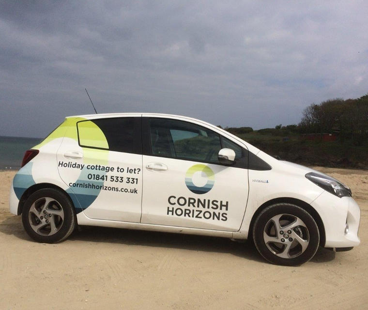 Vehicle graphics for Cornish Horizons by Pickle Design