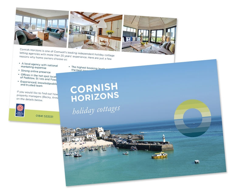A5 mailer for Cornish Horizons