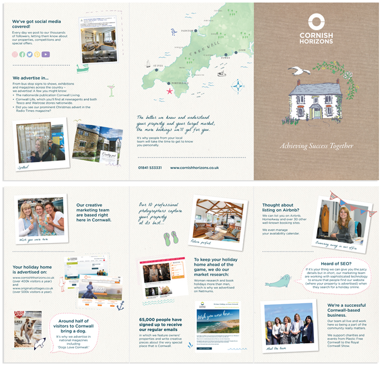 Cornish Horizons marketing statistics designed and illustrated by Pickle Design