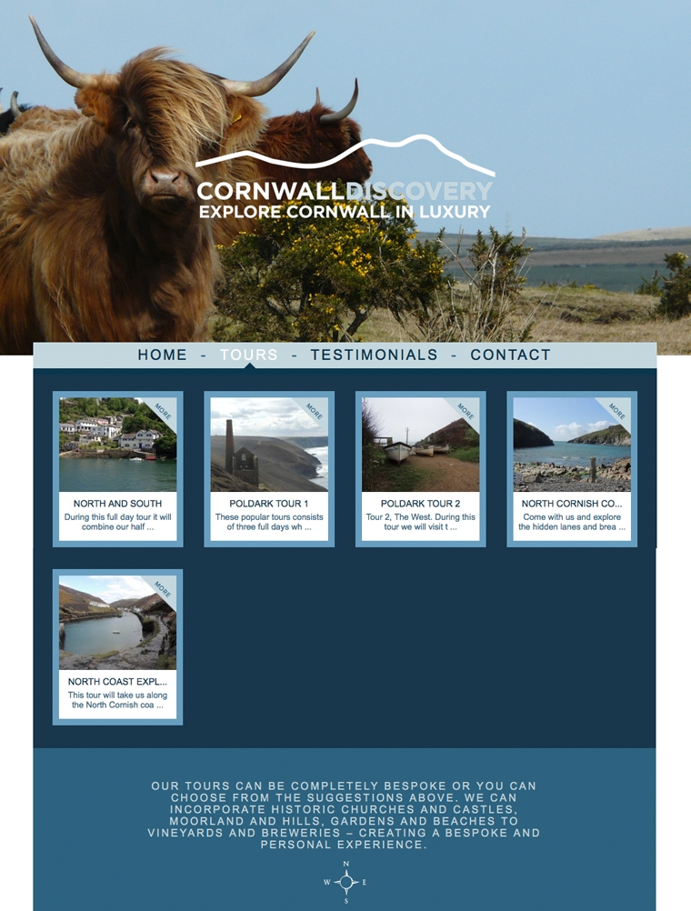 Tors page for Cornwall discovery