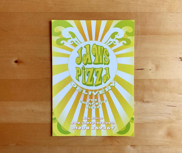 Jaws Pizza Menu