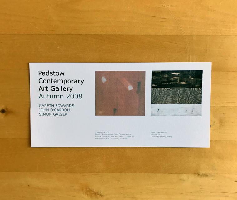 John O'Carroll art gallery invite