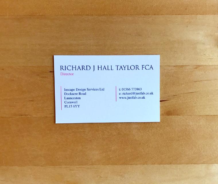 Just Fab business card design