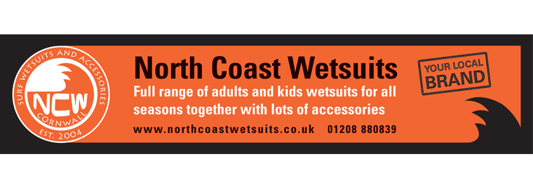 The artwork for the North Coast Wetsuits sign