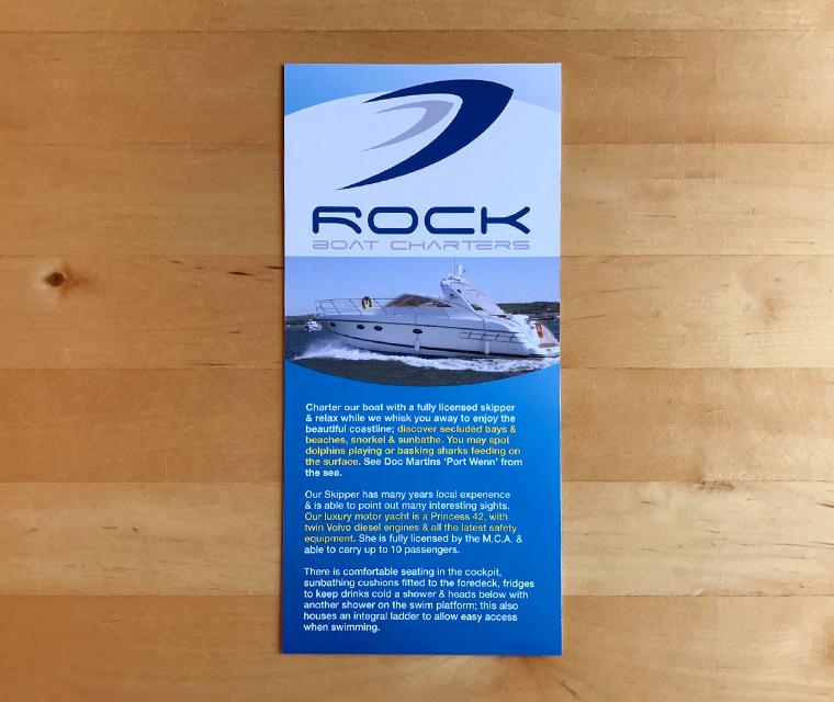 Rock Boat Charters DL leaflet