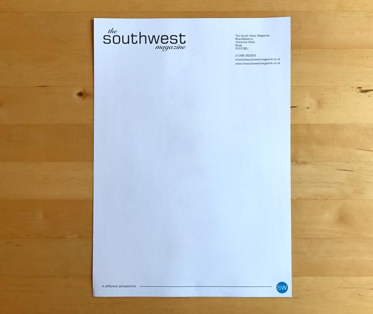Southwest Magazine letterhead