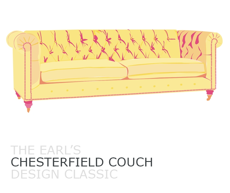 Chesterfield couch design classic