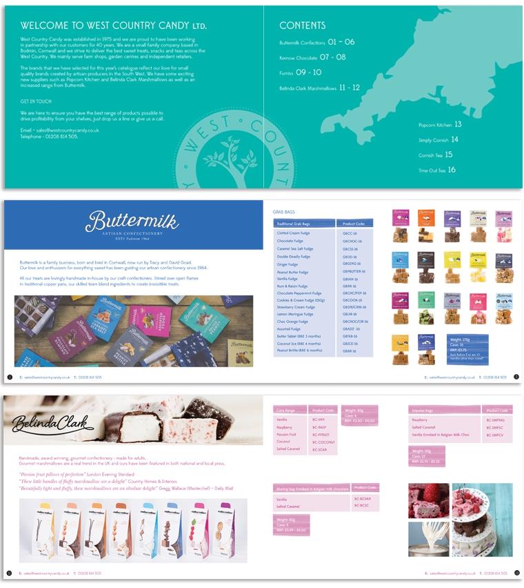 Westcountry Candy brochure spreads