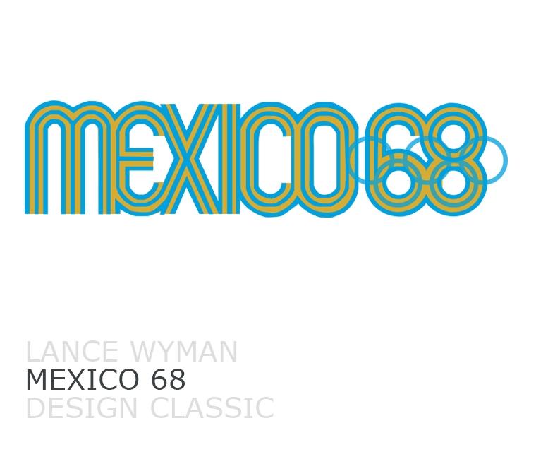 Lance Wyman's logo design for Mexico 68