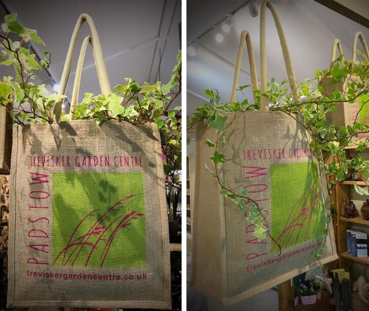 Hessian shopping bags for Trevisker