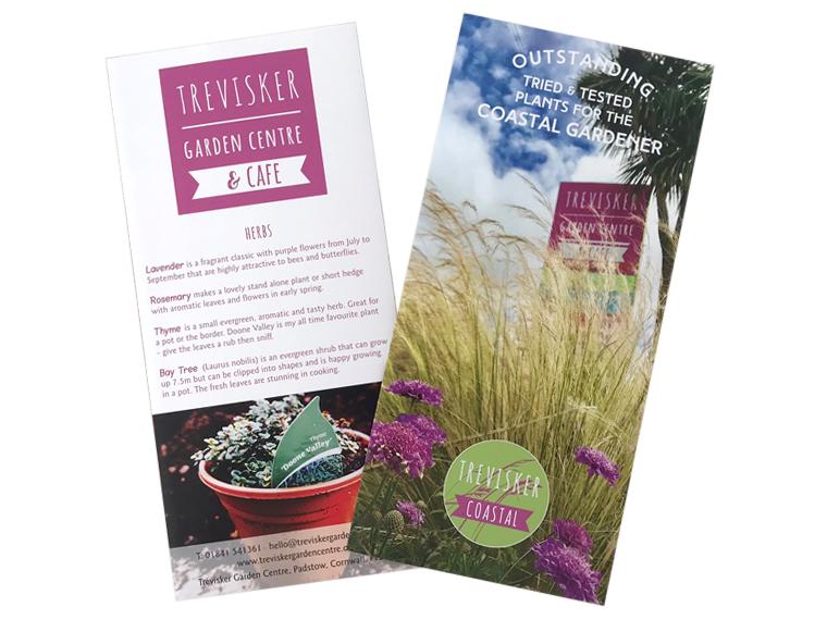 Trevisker Garden Centre Coastal Plants leaflet