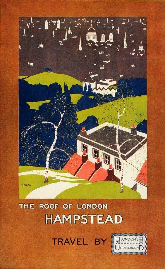 Vintage illustration of Hampstead