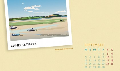 Pickle Design calendar of the Camel Estuary