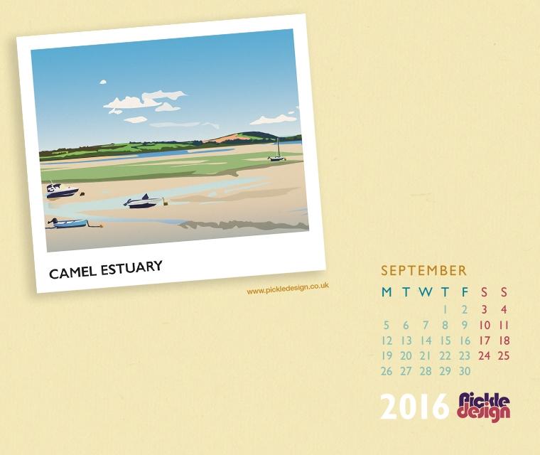Pickle Design calendar of the Camel Estuary