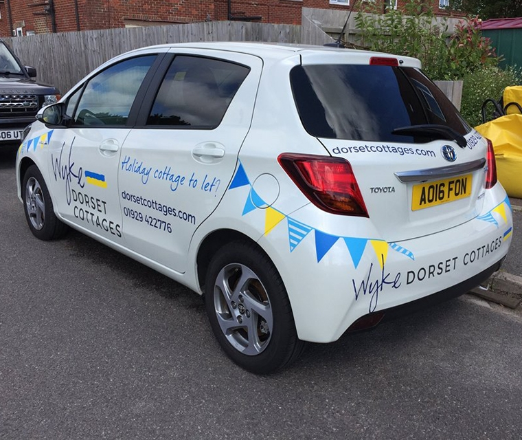 company car graphics for dorset holiday cottage company
