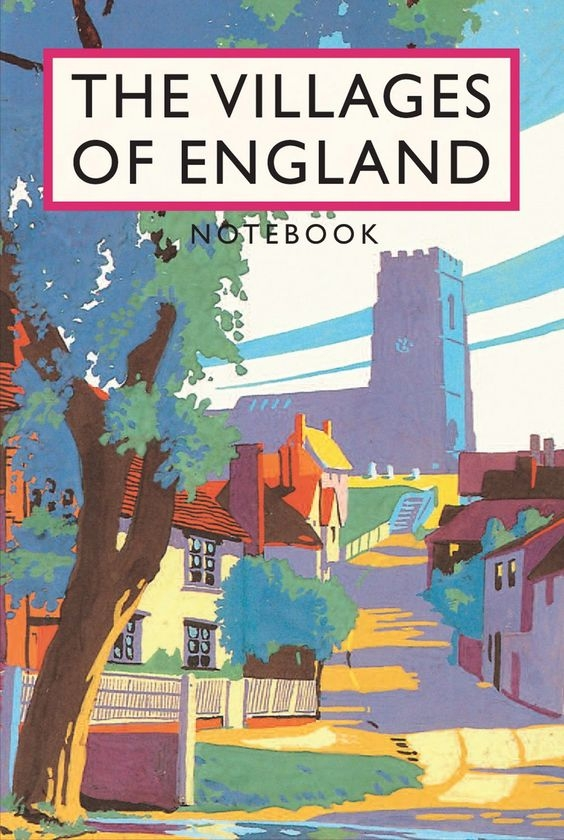 Vintage guide book illustration in vibrant colours