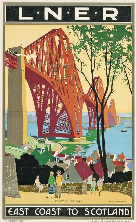 Bridge travel poster vintage