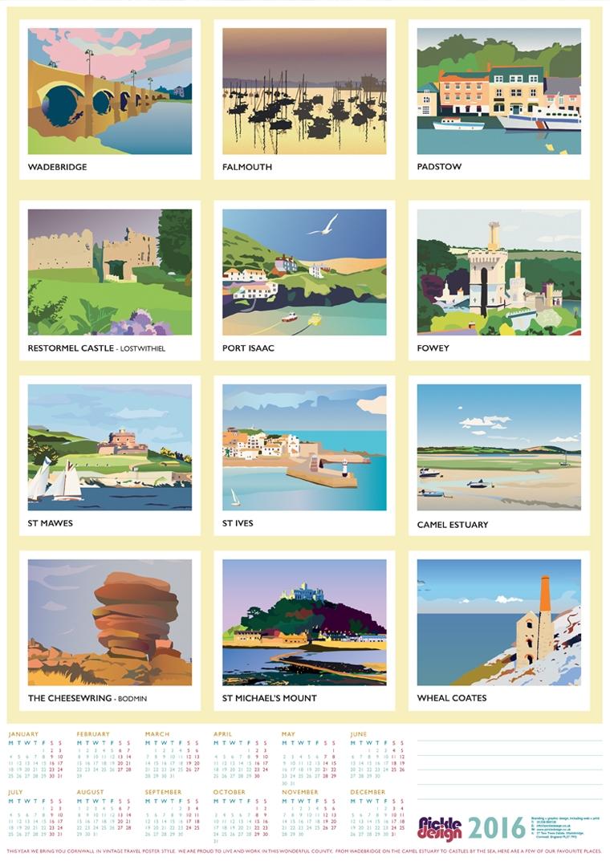 Travel poster inspired calendar