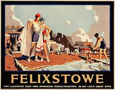 Vintage travel poster of the British seaside