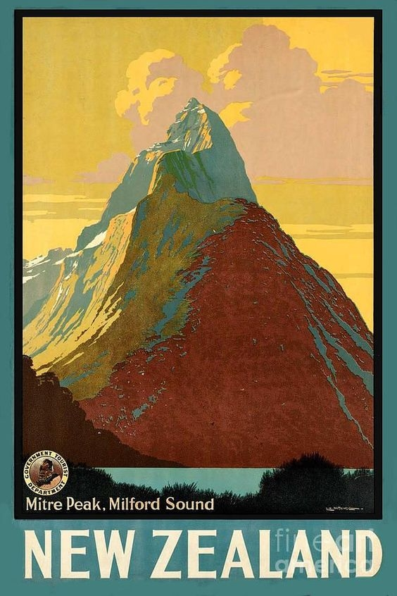 Vintage New Zealand holiday poster
