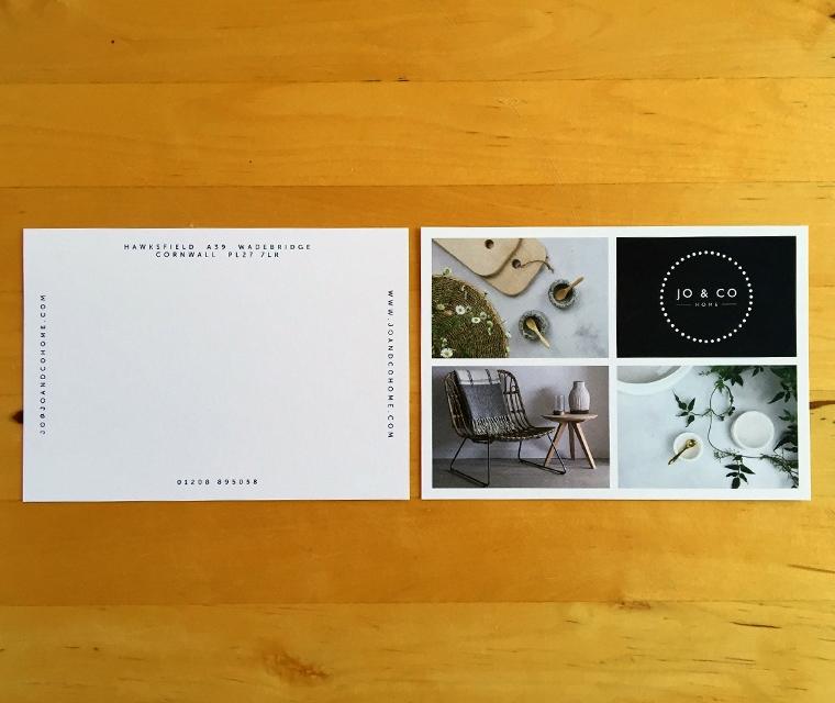 Jo & Co postcard design