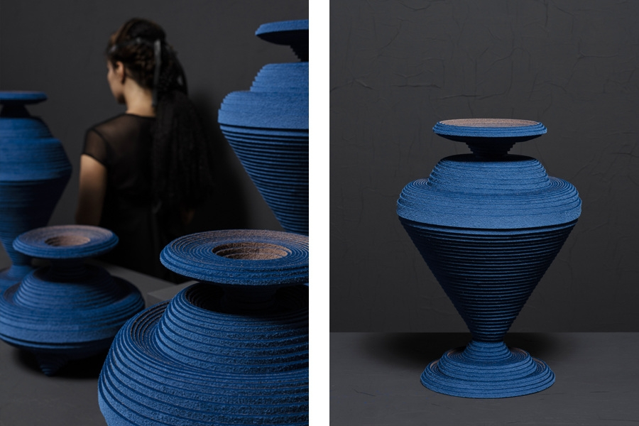 the first man made pigment referenced in felt vases