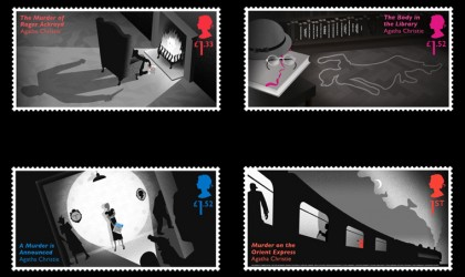 stamps designed to celebrate Agatha Christie