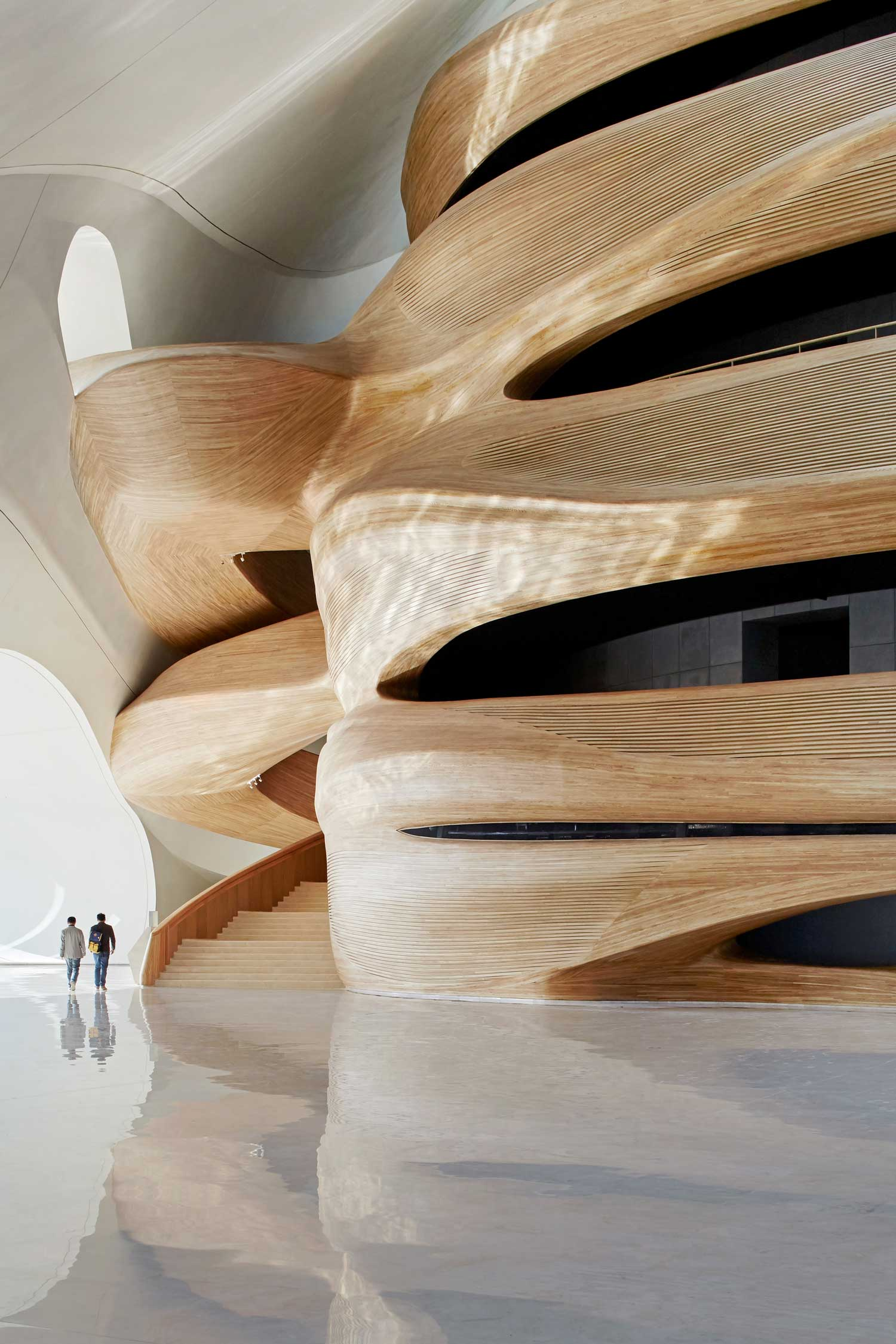 Curvaceous wood Chinese opera house