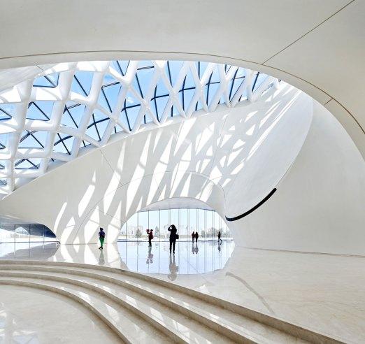 Light filled opera house foyer