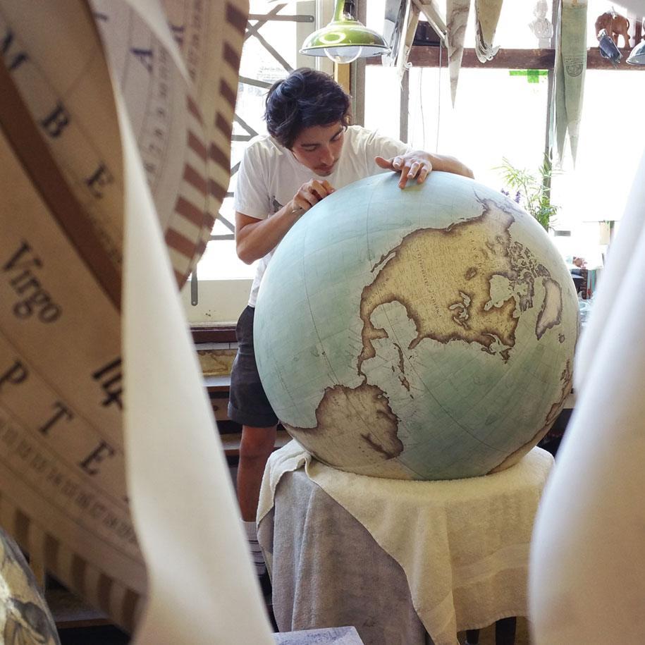 Hand made globes
