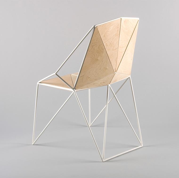 Angular plywood and white