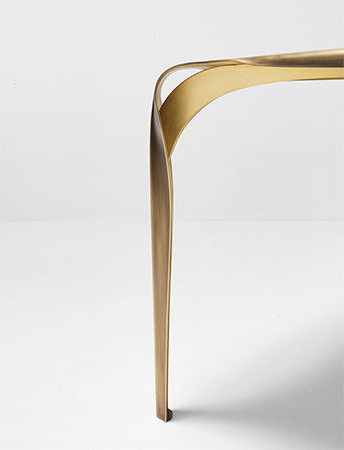 The elegant leg of the Convivium table