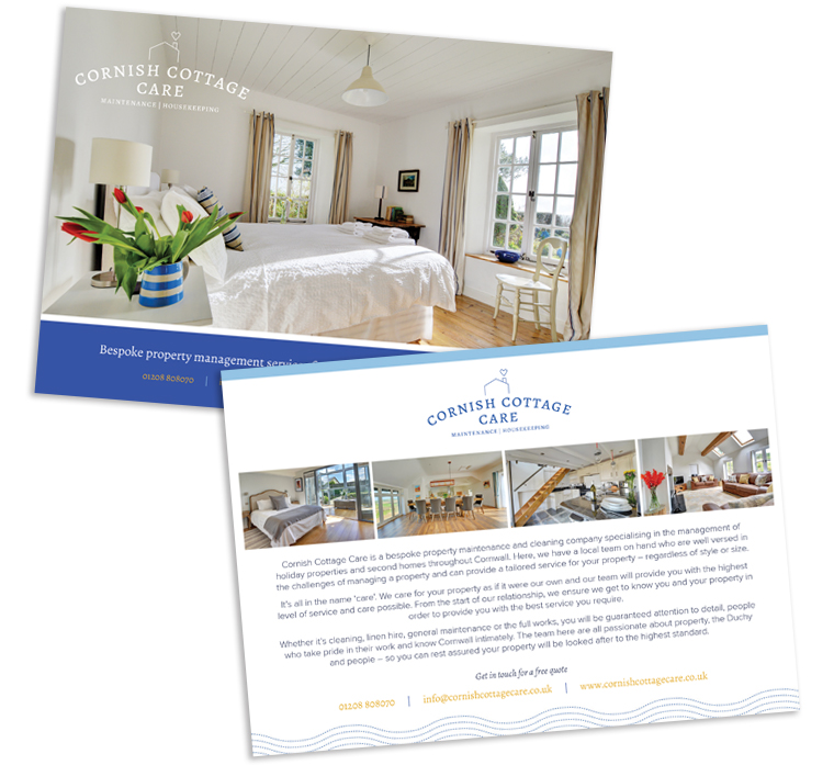Cornish Cottage Care flyer design