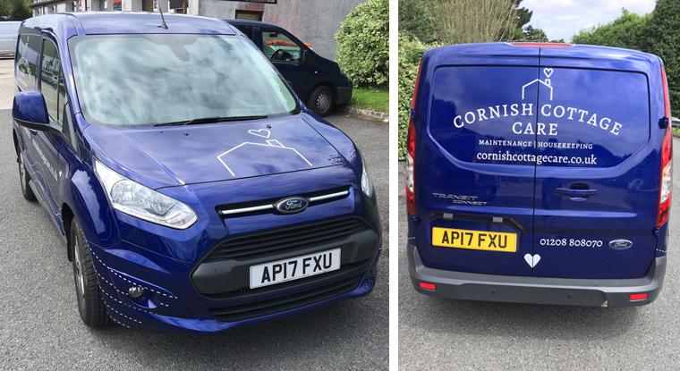 Cornish Cottage Care vehicle livery