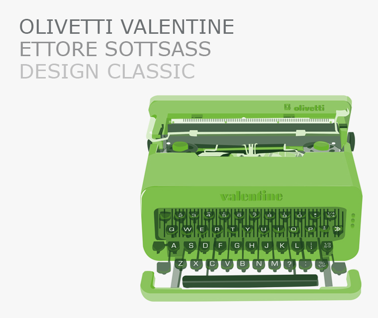 The Valentine Typewriter design classic