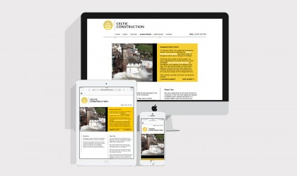 Celtic Construction responsive website