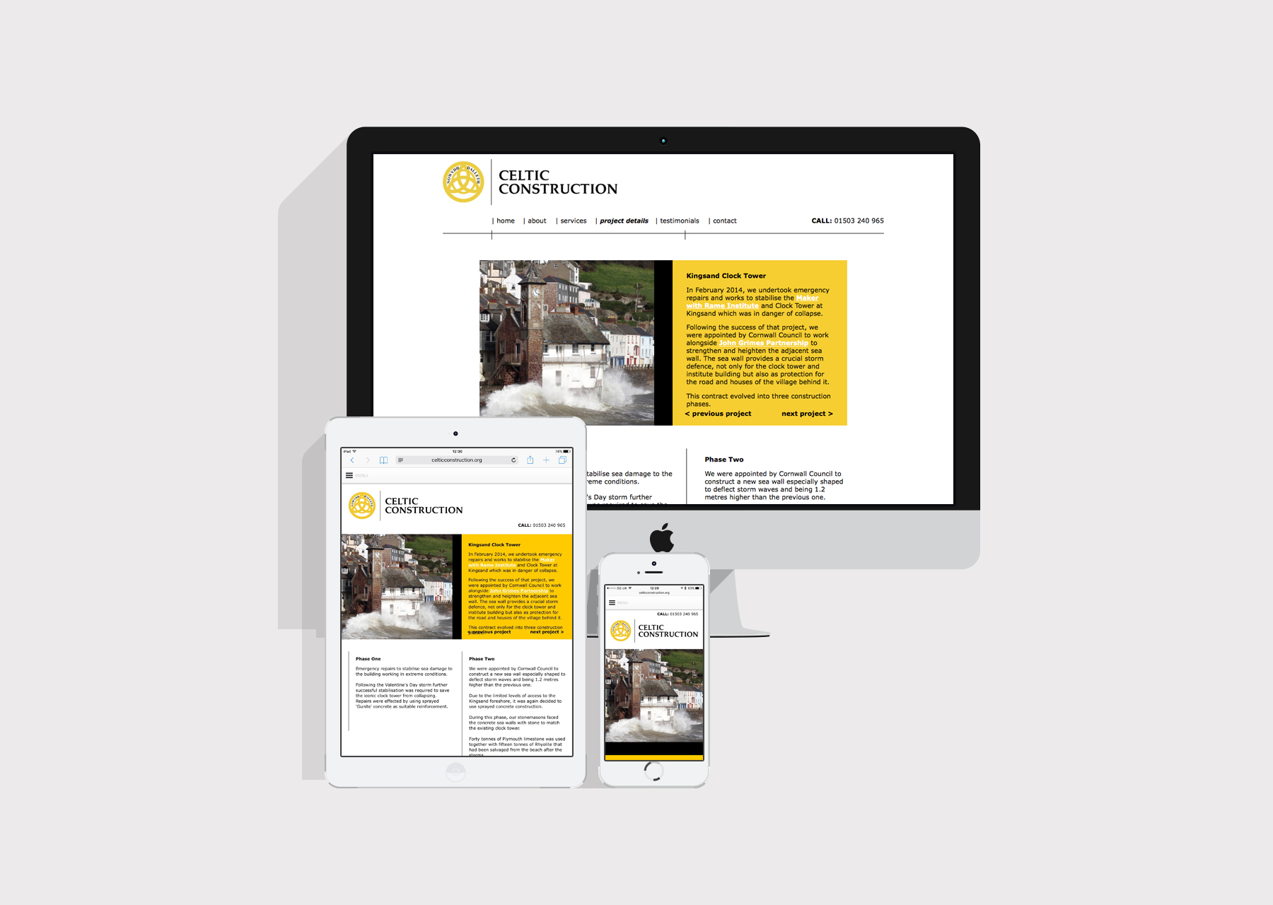 Celtic Construction responsive website
