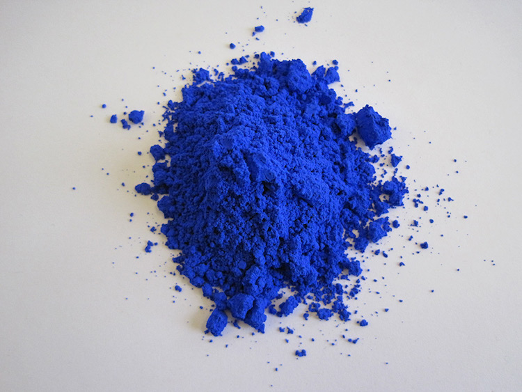 Pile of new blue pigment