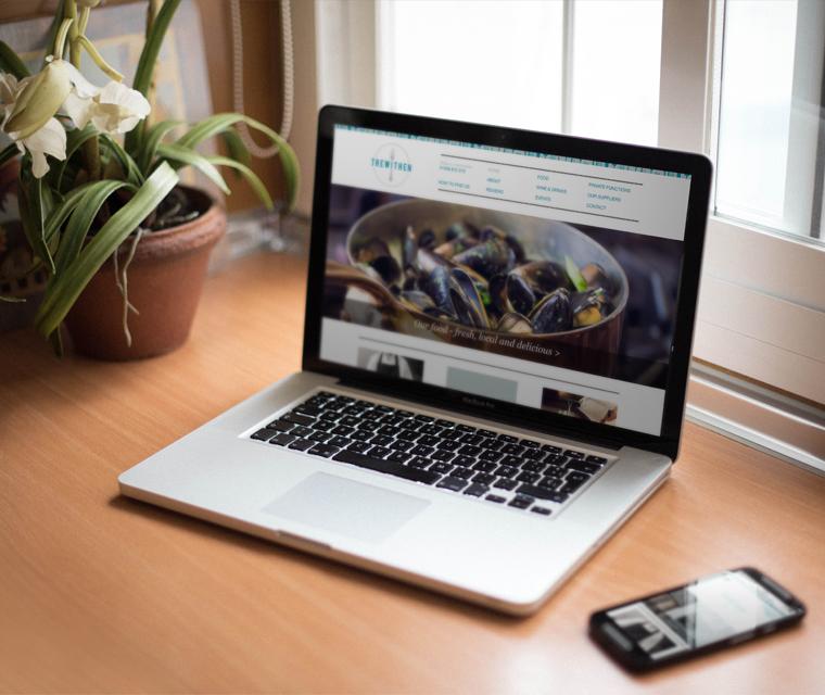 Mobile friendly web design for Trewithen restaurant