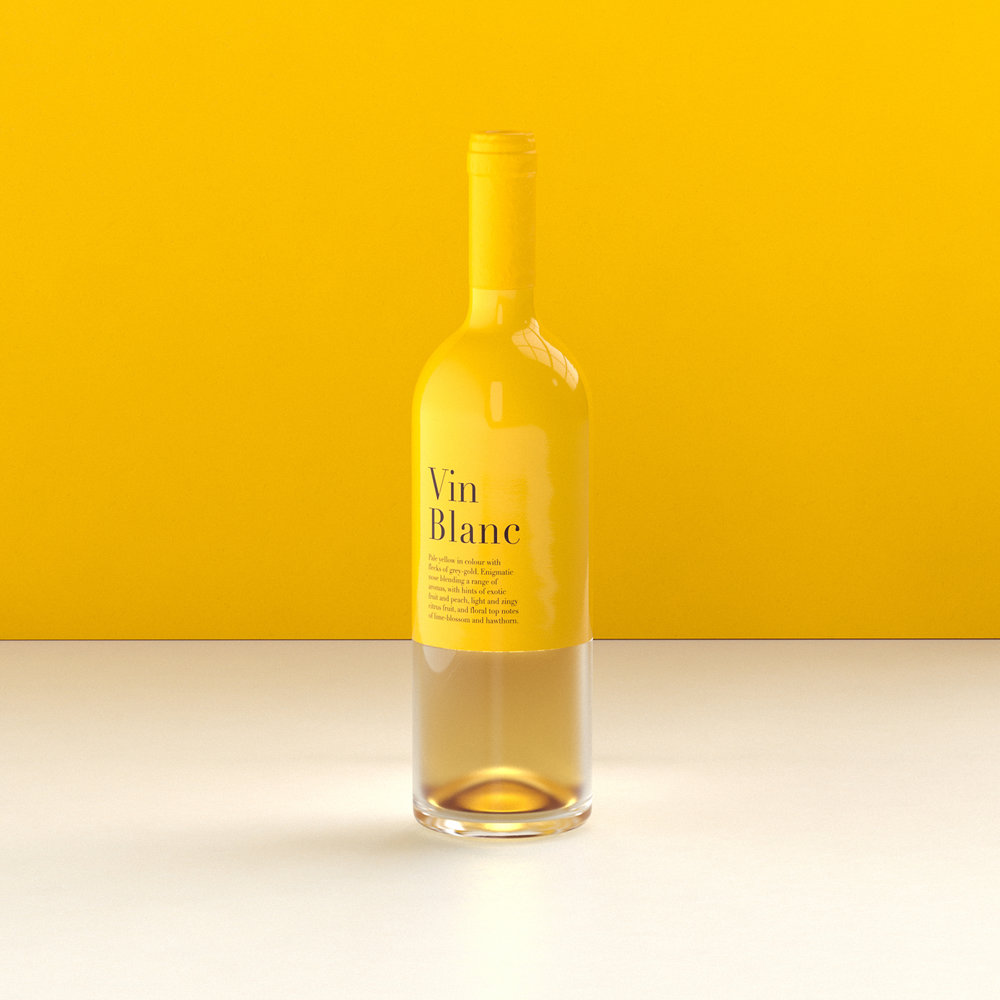 Wine packing design inspiration in citrus yellow