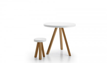 Scandinavian style stool and table