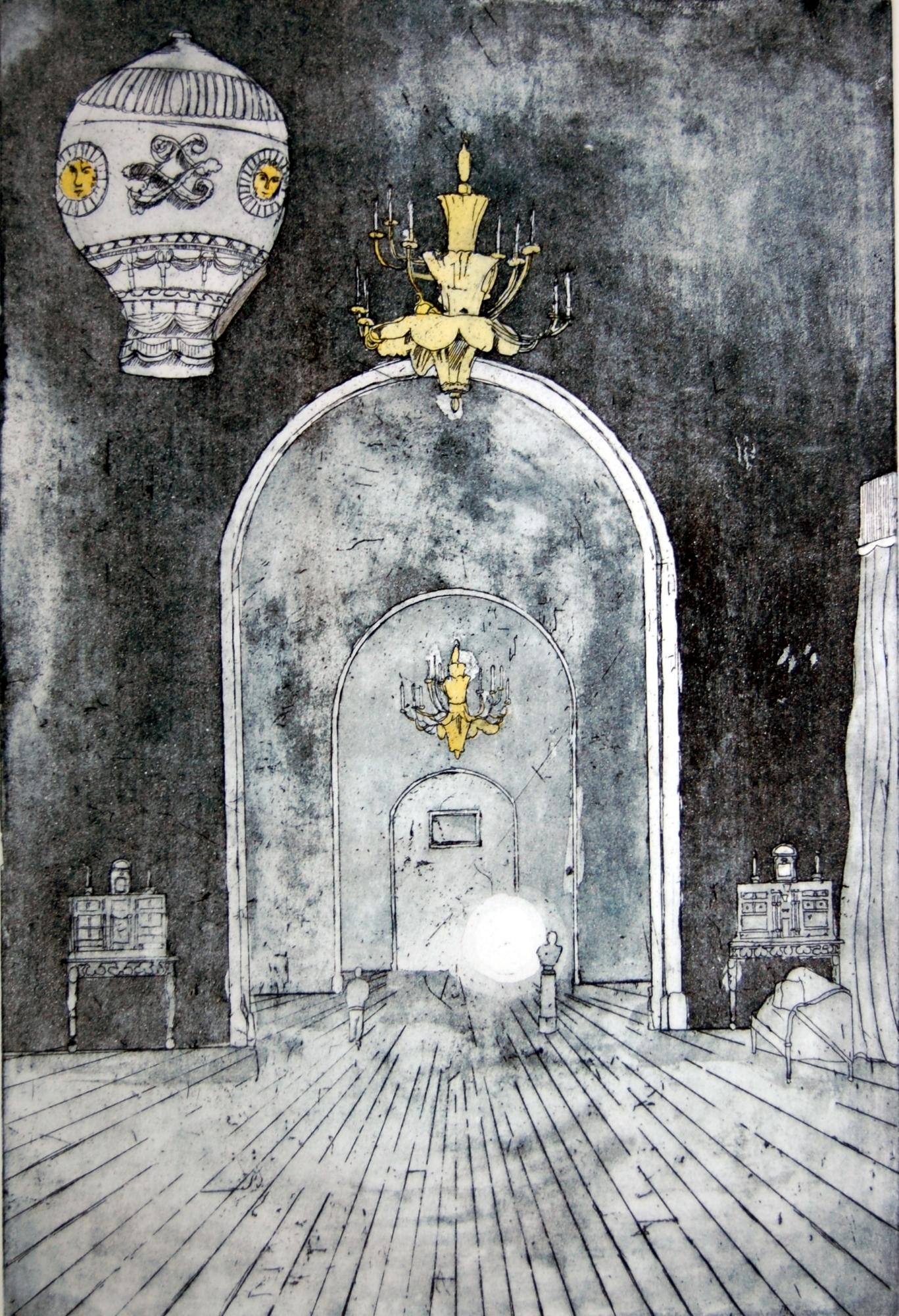 Printmaker Jamie Barnes interior etching